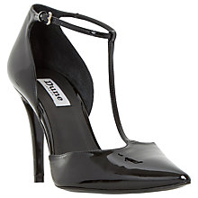 Buy Dune Camie Two Part Stiletto Court Shoes, Black Patent Online at johnlewis.com