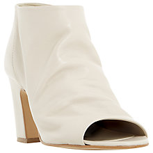 Buy Dune Ivory Peep Toe Block Heeled Ankle Boots Online at johnlewis.com