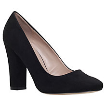 Buy Carvela Klip Block Heeled Court Shoes, Black Suedette Online at johnlewis.com