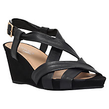 Buy Carvela Comfort Sasha Cross Strap Wedge Heels Online at johnlewis.com