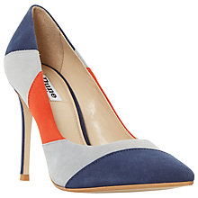 Buy Dune Azzra Pointed Toe Stiletto Court Shoes, Multi Suede Online at johnlewis.com