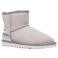 Buy UGG Classic Mini Ankle Boots, Grey Online at johnlewis.com