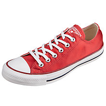 Buy Converse Chuck Taylor All Star Ox Sheenwash Trainers, Red Online at johnlewis.com