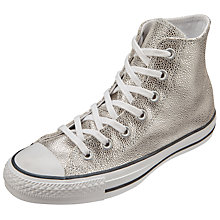 Buy Converse Chuck Taylor All Star Stingray Hi Top Trainers, Silver Online at johnlewis.com
