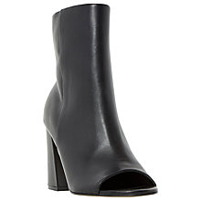 Buy Dune Octavia Peep Toe Block Heeled Boots, Black Online at johnlewis.com