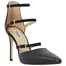 Buy Dune Catarina Triple Strap Two Part Heeled Court Shoes Online at johnlewis.com