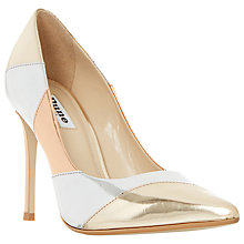Buy Dune Azzra Pointed Toe Stiletto Court Shoes, Multi Metallic Online at johnlewis.com