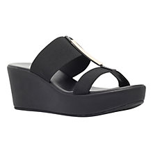 Buy Carvela Comfort Sapphire Wedge Heeled Sandals, Black Online at johnlewis.com