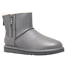 Buy UGG Classic Leather Mini Double Zip Ankle Boots Online at johnlewis.com