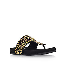 Buy Carvela Comfort Sunshine Toe Post Sandals, Black Online at johnlewis.com