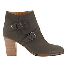 Buy Mint Velvet Leia Block Heeled Ankle Boots, Grey Nubuck Online at johnlewis.com