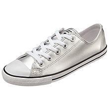 Buy Converse Chuck Taylor All Star Dainty Ox Trainers, Silver Online at johnlewis.com