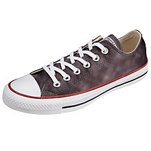 Buy Converse Chuck Taylor All Star Ox Sheenwash Trainers, Black Online at johnlewis.com