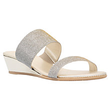 Buy Carvela Comfort Stella Low Wedge Sandals, Metal Comb Online at johnlewis.com