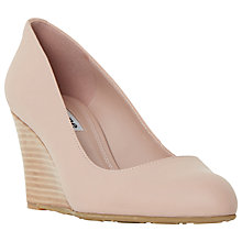 Buy Dune Anisa Wedge Heeled Court Shoes, Blush Leather Online at johnlewis.com