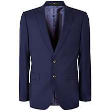 Buy Jaeger Gingham Wool Jacket, Navy Online at johnlewis.com