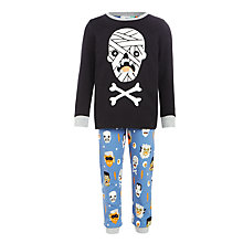 Buy John Lewis Children's Mummy Face Pyjamas, Black/Multi Online at johnlewis.com