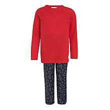 Buy John Lewis Children's Henley Star Print Pyjamas, Red/Blue Online at johnlewis.com