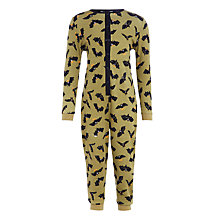 Buy John Lewis Children's Bats Onesie, Green Online at johnlewis.com