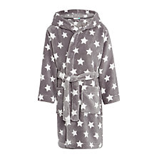 Buy John Lewis Children's Star Print Robe, Grey Online at johnlewis.com