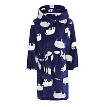 Buy John Lewis Boys' Bear Robe, Navy Online at johnlewis.com