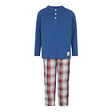 Buy John Lewis Boys' Henley Check Pyjamas, Red/Blue Online at johnlewis.com