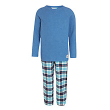 Buy John Lewis Boys' Henley Check Pyjamas, Blue Online at johnlewis.com