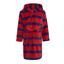 Buy John Lewis Boys' Stripe Robe, Red/Navy Online at johnlewis.com