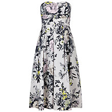 Buy Miss Selfridge Floral Bandeau Prom Dress, Multi Online at johnlewis.com