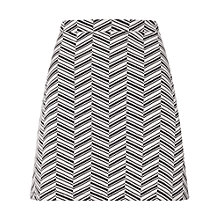 Buy Miss Selfridge Chevron A-Line Mini Skirt, Multi Online at johnlewis.com