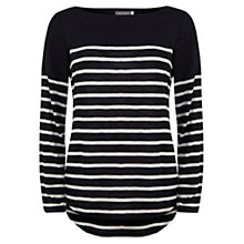 Buy Mint Velvet Stripe T-Shirt, Blue Online at johnlewis.com