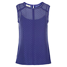 Buy Hobbs Dalhousie Top, Grape Online at johnlewis.com