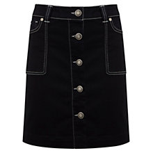Buy Mint Velvet Button Mini Skirt, Blue/Black Online at johnlewis.com
