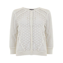 Buy Mint Velvet Brodrais Panel Cardigan, Ivory Online at johnlewis.com