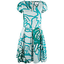 Buy Closet V Neck Capped Sleeve Dress, Green Online at johnlewis.com