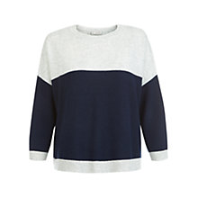Buy Hobbs Maryann Jumper, Grey/Navy Online at johnlewis.com