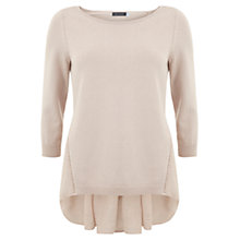Buy Mint Velvet Ruched Voile Back Knit Top Online at johnlewis.com