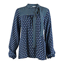 Buy Closet Pussy Bow Long Sleeved Blouse, Navy/Multi Online at johnlewis.com