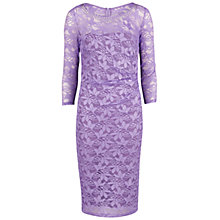 Buy Gina Bacconi Beaded Neck Lace Dress, Lilac Online at johnlewis.com