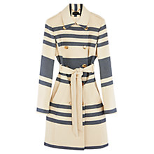Buy Karen Millen Riviera Stripe Coat, White/Multi Online at johnlewis.com