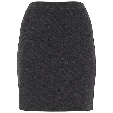 Buy Miss Selfridge A Line Mini Skirt, Dark Grey | John Lewis