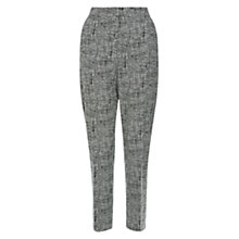 Buy Hobbs Rosanna Trousers, Black/Ivory Online at johnlewis.com