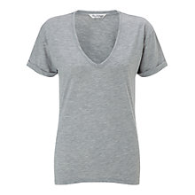 Buy Miss Selfridge Longline V Neck T-shirt Online at johnlewis.com