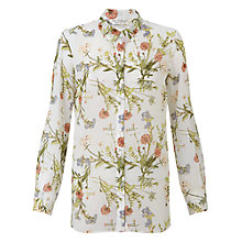 Buy Miss Selfridge Floral Chiffon Shirt, Multi Online at johnlewis.com