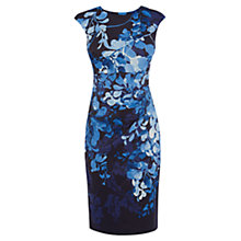 Buy Karen Millen Wisteria Print Dress, Blue/Multi Online at johnlewis.com
