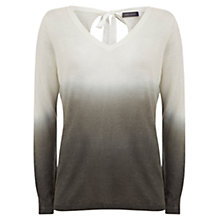 Buy Mint Velvet V-Neck Ombre Knit Top, Khaki Online at johnlewis.com