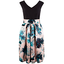 Buy Closet 2 in 1 Contrast Floral Satin Skirt Dress, Multi Online at johnlewis.com