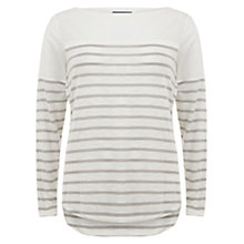 Buy Mint Velvet Stripe T-Shirt, Multi Online at johnlewis.com