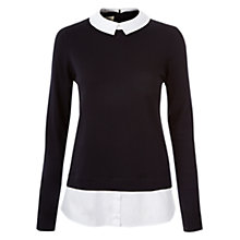 Buy Hobbs Millie Jumper, Navy White Online at johnlewis.com