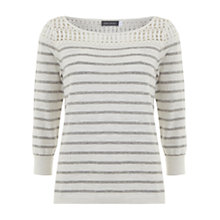 Buy Mint Velvet Striped And Knit Jumper, Striped Online at johnlewis.com